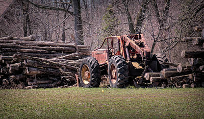 Photograph - Skidder Done by Leslie Montgomery