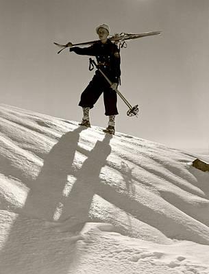 Skier Art Print by Unknown
