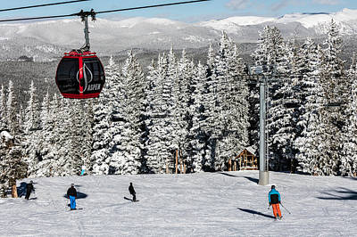 Photograph - Skiers Limber Up Under A Gondola Near The Summit Of Aspen Mountain by Carol M Highsmith