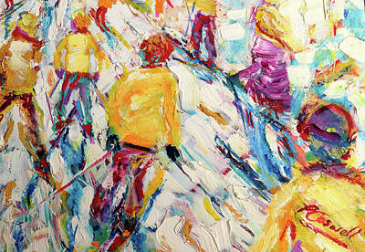 Painting - Skiers Sailure by Pete Caswell