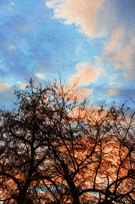 Painting - Skies And Trees by Andrea Mazzocchetti
