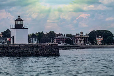 Photograph - Skies Open Up Over Derby Lighthouse by Jeff Folger