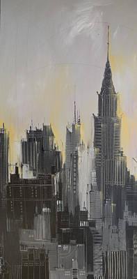Skies Over Manhattan Print by Irina Rumyantseva