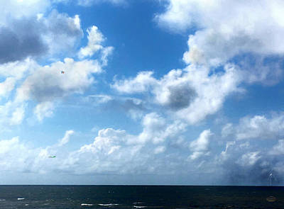 Cloudscape Digital Art - Skies Over The Gulf by Daniel Eskridge