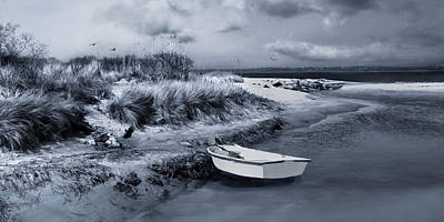 Photograph - Skiff On The Sandbar by Robin-Lee Vieira