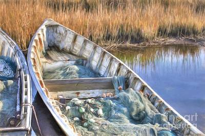 Skiffs And Nets Art Print by Benanne Stiens