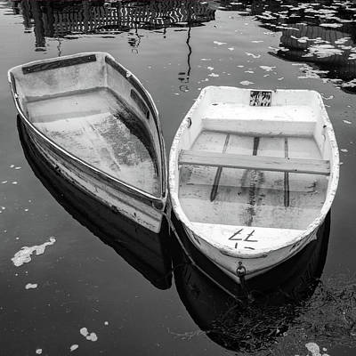 Photograph - Skiffs In Black And White by Rick Berk