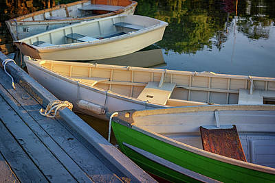 Skiffs In Tenants Harbor Art Print
