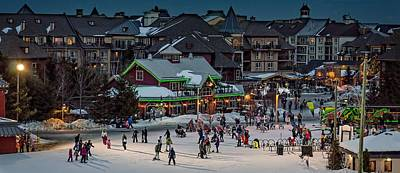 Photograph - Skiing At The Village by Jeff S PhotoArt