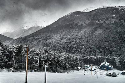 Photograph - Skiing Center On The Bayo Hill by Eduardo Jose Accorinti