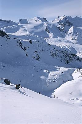 Man And Nature Photograph - Skiing In The Selkirk Range, British by Jimmy Chin