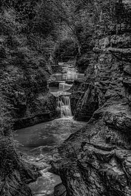 Photograph - Skillet Creek Through Pewits Nest In Black And White by Dale Kauzlaric