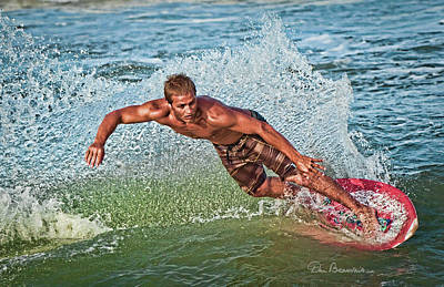 Photograph - Skimboarder 7292 by Dan Beauvais