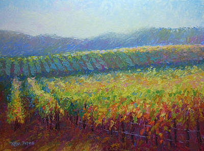 Sonoma County Vineyard Original by Jill Keller Peters