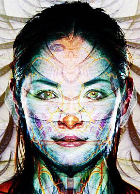 Trippy Digital Art - Skin Deep by Bear Welch