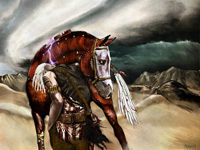 Painting - Skin Horse by Mandem
