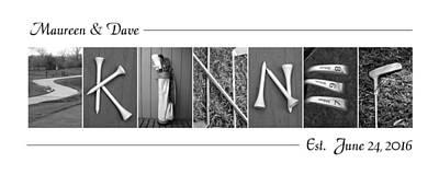 Photograph - Skinner Alphabet Art by Kathy Stanczak