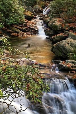 Photograph - Skinny Dip Falls In Autumn by Carol Montoya