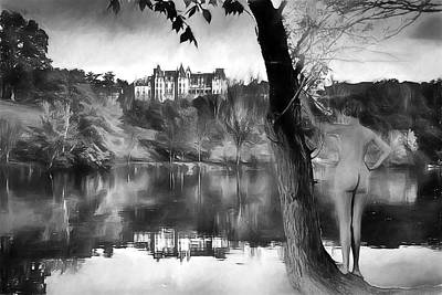 Digital Art - Skinny Dipping At Biltmore Ca 1930 by John Haldane