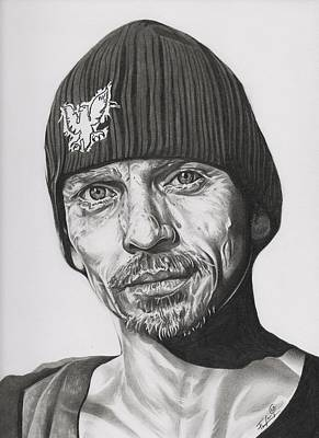 Aaron Paul Drawing - Skinny Pete  Breaking Bad by Fred Larucci
