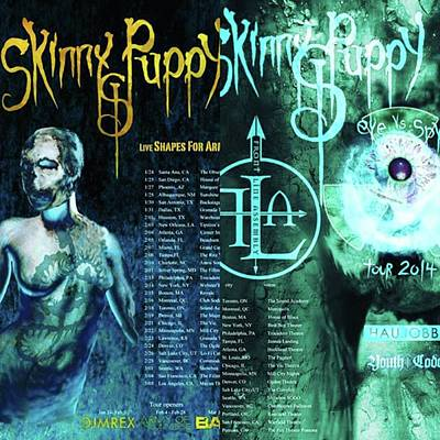 Photograph - skinny Puppy Are Awesome. The Tours by XPUNKWOLFMANX Jeff Padget