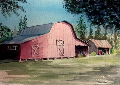 Painting - Skip Kelly's Barn by Francis Chester