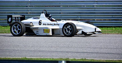 Photograph - Skip Barber Racing 6 On Straight by Mike Martin