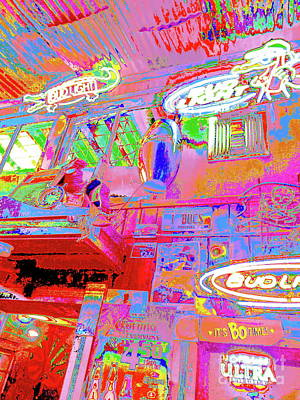Photograph - Skippers Blues Bar Interior by Expressionistart studio Priscilla Batzell