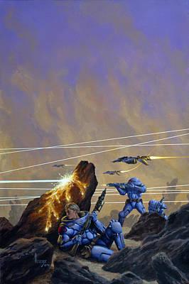 Skirmishers  Art Print by Richard Hescox