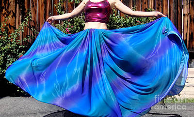 Circle Skirt Photograph - Skirt For Dance. Blue Happiness by Sofia Metal Queen