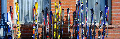 Gear Photograph - Skis At Vail, Colorado by Panoramic Images