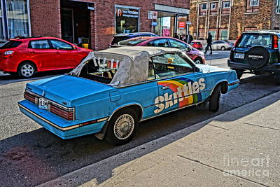 Photograph - Skittles Car by Bob Brents