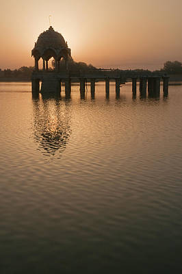 Photograph - Skn 1384 The Morning At Gadisar Lake by Sunil Kapadia