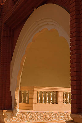 Photograph - Skn 1817 Illuminated Veranda by Sunil Kapadia