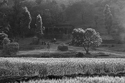Photograph - Skn 6457 Farmer's Yield B/w by Sunil Kapadia