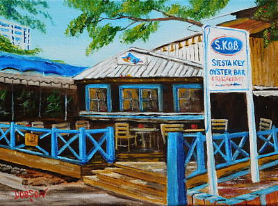 Painting - S.k.o.b. On Siesta Key Florida by Lloyd Dobson