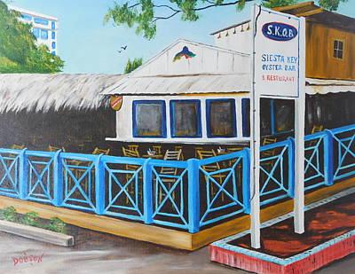 Painting - S.k.o.b. On Siesta Key by Lloyd Dobson