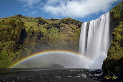 Photograph - Skogafoss And Companion Rainbow by Rikk Flohr