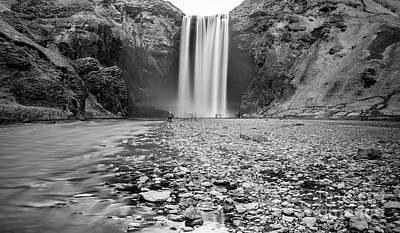 White River Scene Mixed Media - Skogafoss by Svetlana Sewell