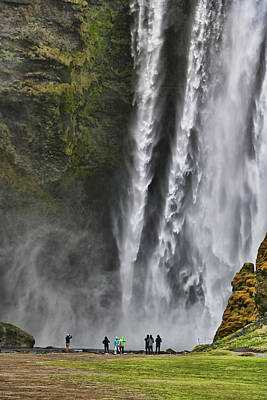 Photograph - Skogafoss Waterfall # 1  by Allen Beatty