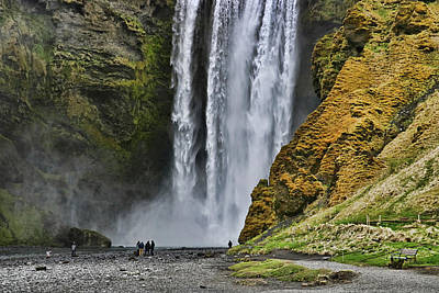 Photograph - Skogafoss Waterfall # 2 by Allen Beatty
