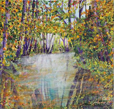 Painting - Skokomish Valley Creek In The Fall by Terri Thompson