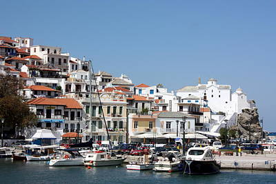 Skopelos Photograph - Skopelos Harbour Greece by Yvonne Ayoub