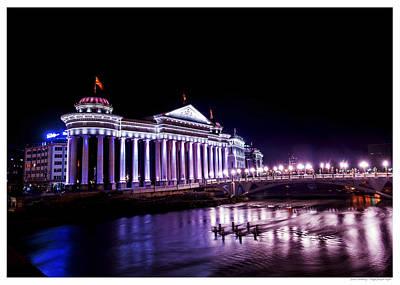 Photograph - Skopje Purple Night by Jonas Sundberg