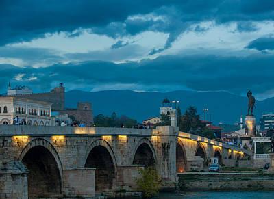 Photograph - Skopje Stone Bridge by Jonas Sundberg