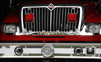 Photograph - Skowhegan Maine Firetruck Grill by Michele A Loftus