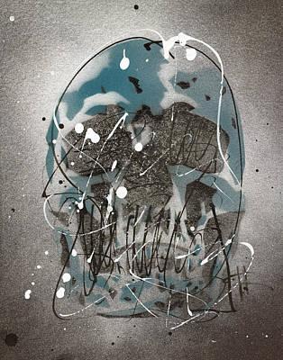 Painting - Skull #1 by Ryan  Hopkins