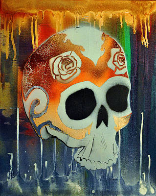 Painting - Skull 2 by Josean Rivera