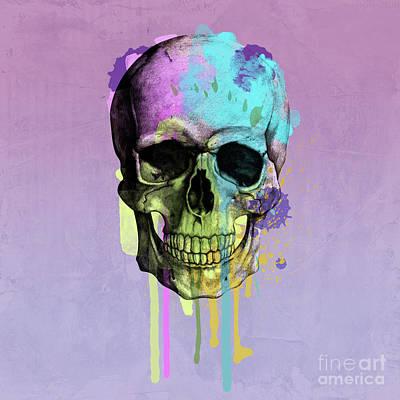 Sculling Digital Art - Skull 6 by Mark Ashkenazi