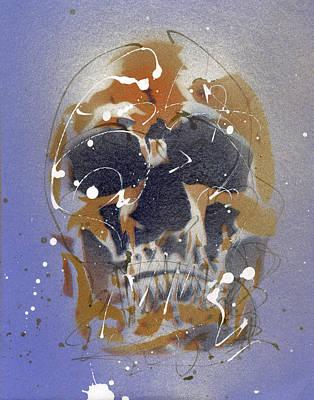 Painting - Skull #7 by Ryan  Hopkins